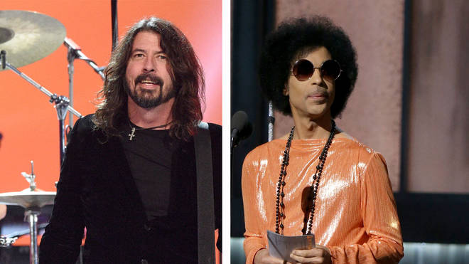 Foo Fighters frontman Dave Grohl and the late icon Prince