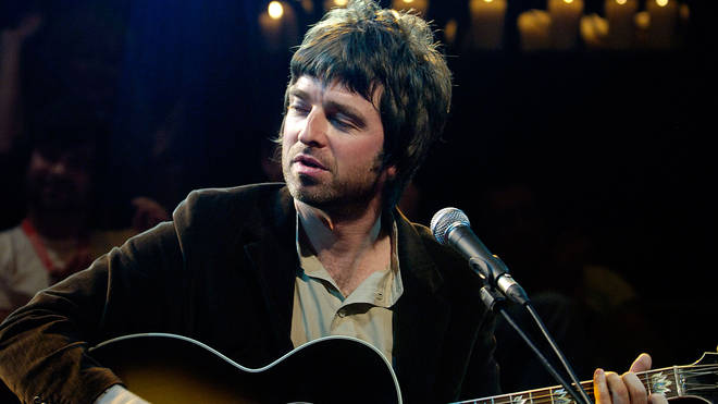 Noel Gallagher performing live on stage at Vodafone Live at the Chapel in December 2006