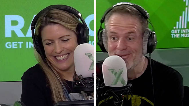 Pippa Taylor and Chris Moyles smile as listeners' nominate someone to win £500!