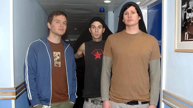 Blink-182 in 2004: Mark Hoppus, Travis Barker and Tom DeLonge