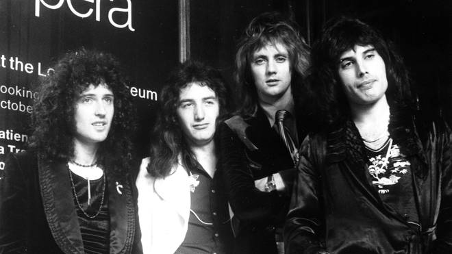 Queen in August 1975: Brian May, John Deacon, Roger Taylor and Freddie Mercury