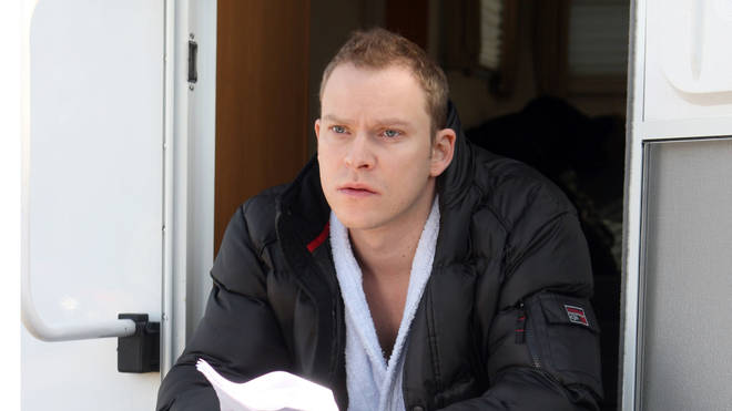 Robert Webb learning a script on the new series of Peep Show