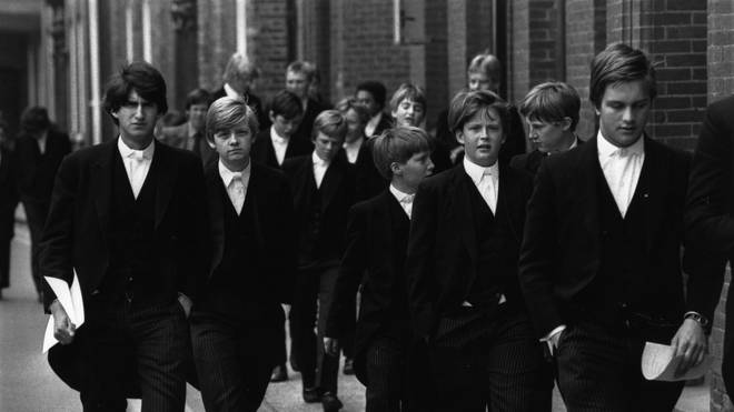 8th May 1980:  Pupils at Eton, the English public school for boys near Windsor.