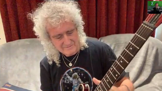 Queen guitarist plays Queen's Bohemian Rhapsody solo on The Chris Moyles Show