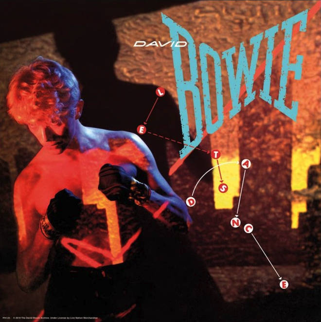 David Bowie's Let's Dance album artwork