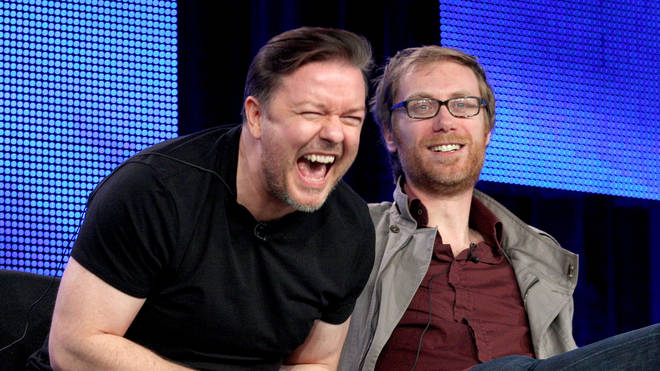 Ricky Gervais and Stephen Merchant, 2010