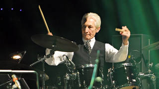 Charlie Watts of The Rolling Stones performing live in 2010