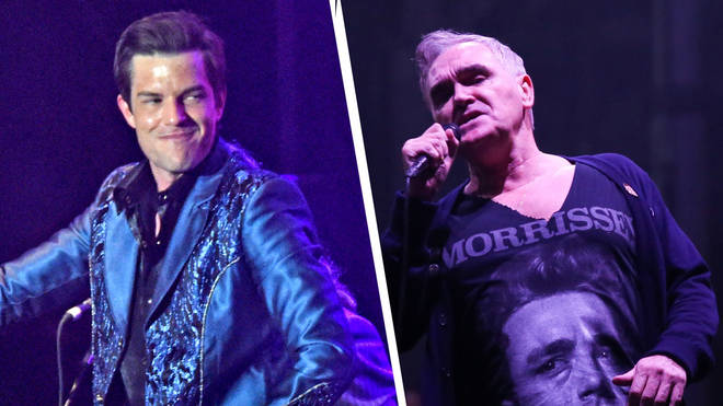 The Killers' Brandon Flowers and Morrissey