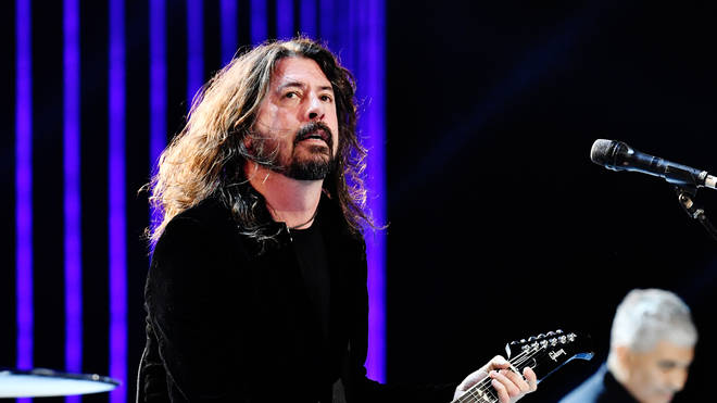 """Foo Fighters' Dave Grohl at the 62nd Annual GRAMMY Awards  """"Let's Go Crazy"""" The GRAMMY Salute To Prince"""