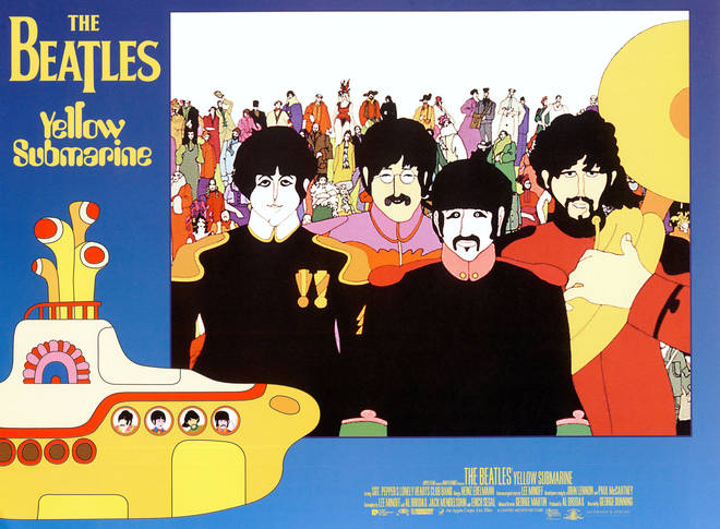 The Beatles' Yellow Submarine digitally remastered poster