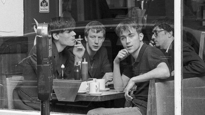 Blur in a cafe in the East End in 1992