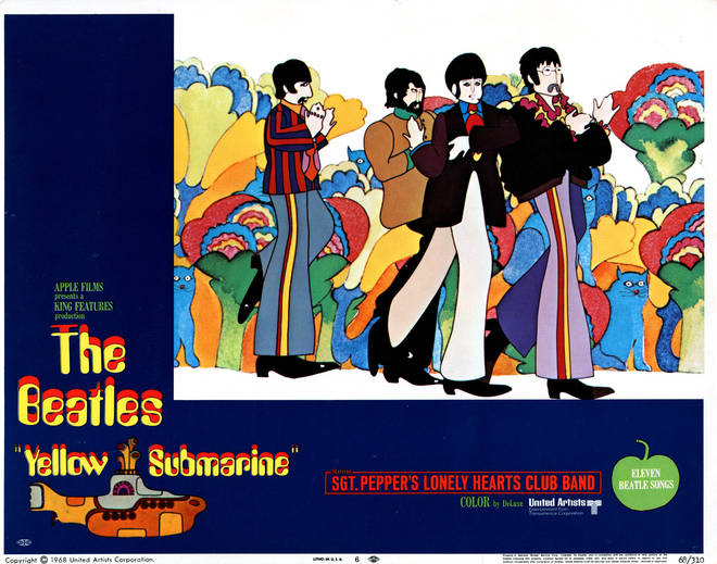 A poster for The Beatles' Yellow Submarine movie