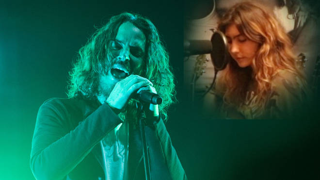 The late Chris Cornell and his daughter Toni Cornell inset