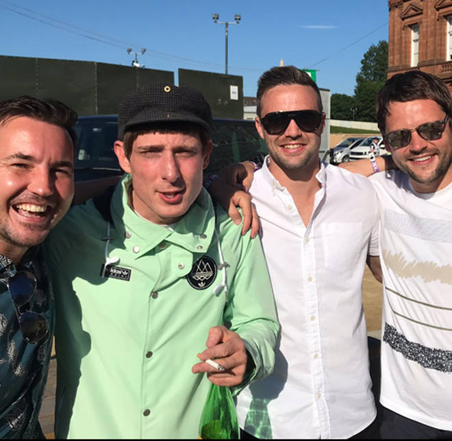 Gordon at TRNSMT 2018 with Martin Compston, Gerry Cinnamon and boxing World Champion Josh Taylor