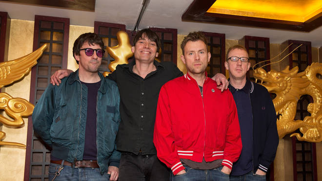 Blur in February 2015:  Graham Coxon, Alex James, Damon Albarn and Dave Rowntree