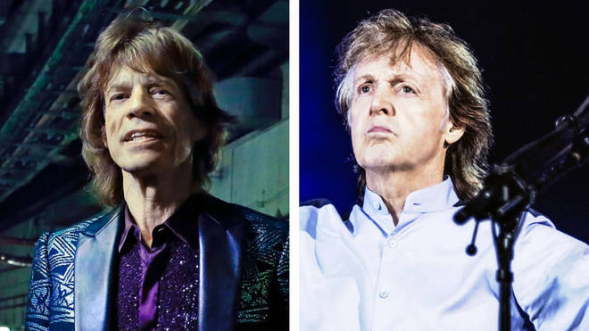 The Rolling Stones' Mick Jagger and The Beatles legend Paul McCartney