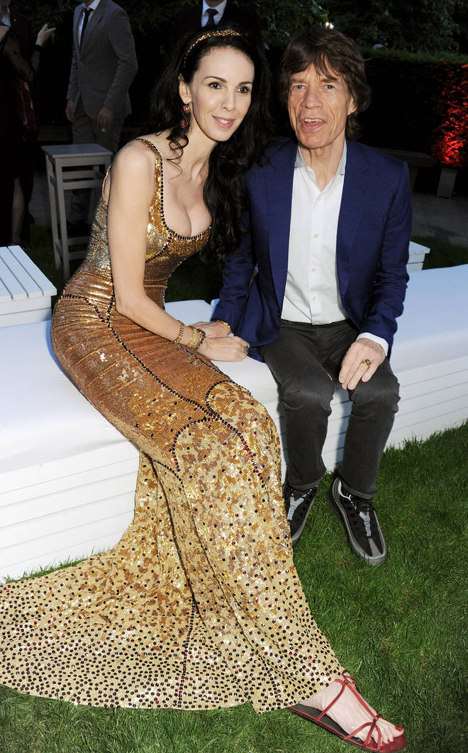 The late L'Wren Scott and Mick Jagger at The Serpentine Gallery Summer Party Co-Hosted By L'Wren Scott