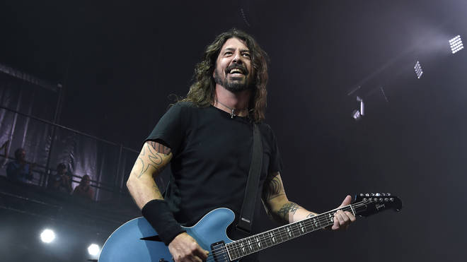 Dave Grohl onstage with Foo Fighters, 2018