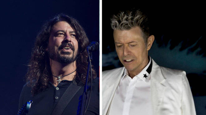 Foo Fighters' Dave Grohl and David Bowie