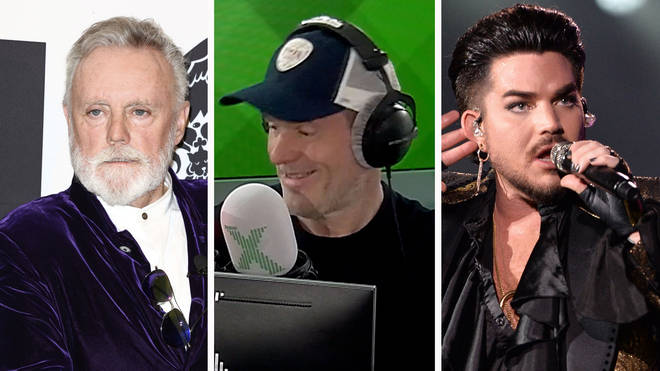 Queen's Roger Taylor, Chris Moyles and Adam Lambert