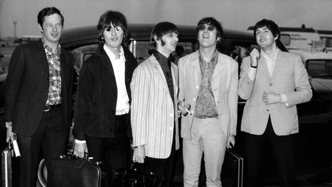 Brian Epstein and The Beatles arrive back in London in July 1966 after their troublesome tour of the Philippines
