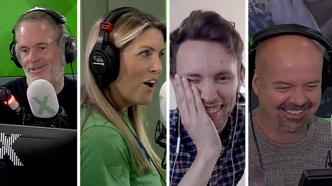 Chris Moyles, Pippa Taylor, James Robinson and Dominic Byrne on The Chris Moyles Show