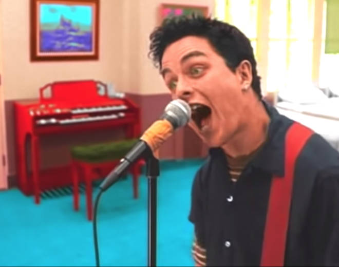 Billie Joe Armstrong in the video for Green Day's Basket Case