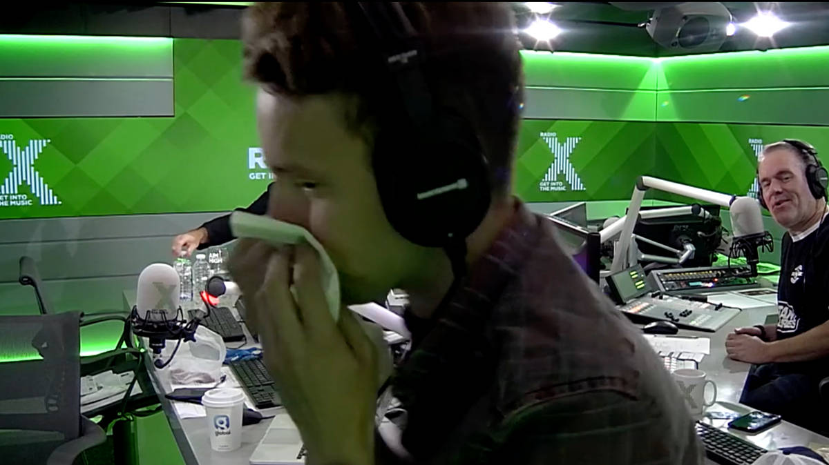 Video James Is Nearly Sick After Eating A Listeners
