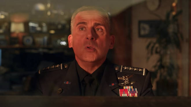 Steve Carell in the trailer for Netflix's Space Force