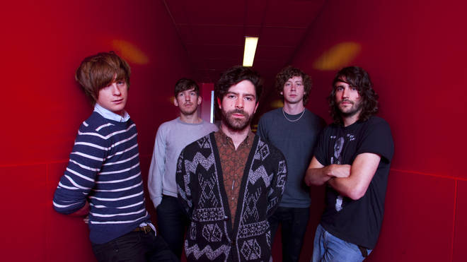 Foals in 2010 at the time of Total Life Forever: Jack Bevan, Edwin Congreave, Yannis Philippakis, Walter Gervers and Jimmy Smith