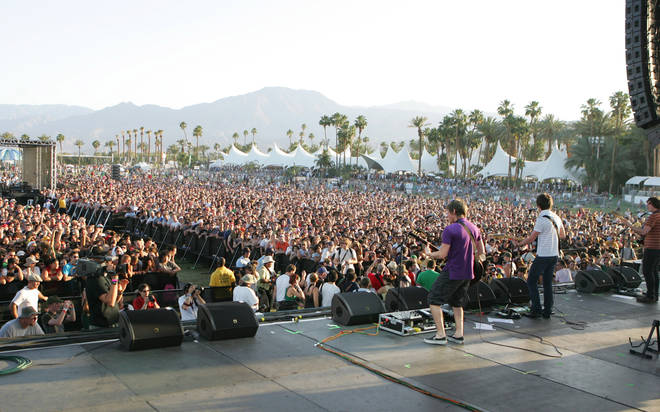 Jamie Cook and Alex Turner of Arctic Monkeys during 2007 Coachella Valley Music and Arts Festival