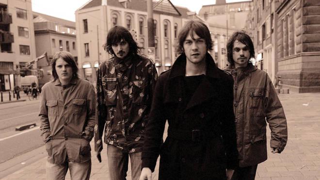 Kasabian in 2004: Chris Edwards, Sergio Pizzorno, Tom Meighan, Christopher Karloff