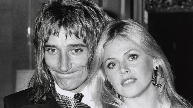 Rod Stewart and Britt Ekland in 1975