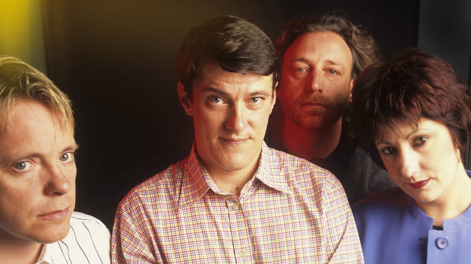 New Order in 1989: Bernard Sumner, Stephen Morris, Peter Hook and Gillian Gilbert