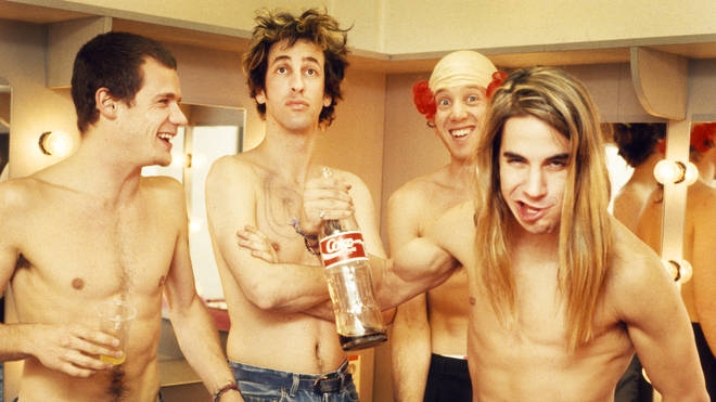 Red Hot Chili Peppers in 1988: Anthony Kiedis, Flea, Hillel Slovak, Jack Irons
