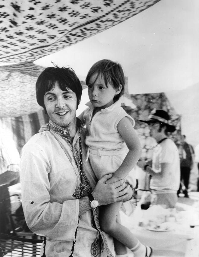 Paul McCartney and Julian Lennon, 1967