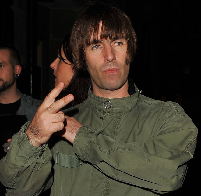 Liam Gallagher greets a close friend