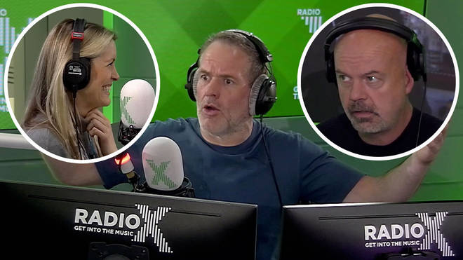 Chris Moyles loses it at Pippa Taylor and Dominic Byrne
