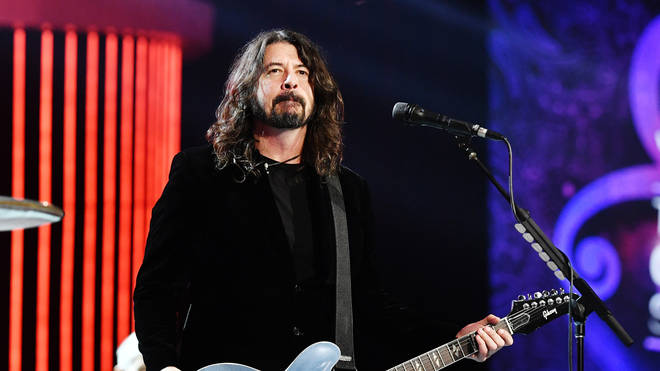 """Foo Fighters&squot; Dave Grohl at the 62nd Annual GRAMMY Awards  """"Let&squot;s Go Crazy"""" The GRAMMY Salute To Prince"""