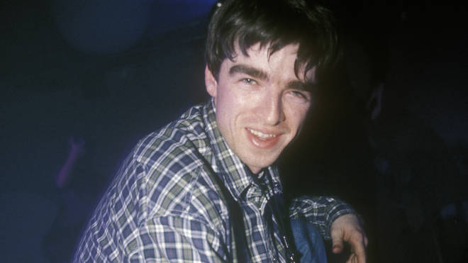 Noel Gallagher working as a roadie for the Inspiral Carpets, Manchester, 1992