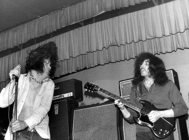 Ozzy Osbourne & Tony Iommi performing with their pre-Sabbath band Earth in 1969