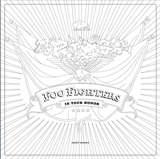 Foo Fighters In Your Honour is among some of the albums you can colour in