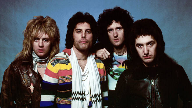 "Queen in 1978"" Roger Taylor, Freddie Mercury, Brian May and John Deacon"