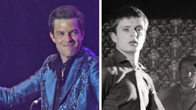 The Killers frontman Brandon Flowers and the late Joy Division frontman Ian Curtis