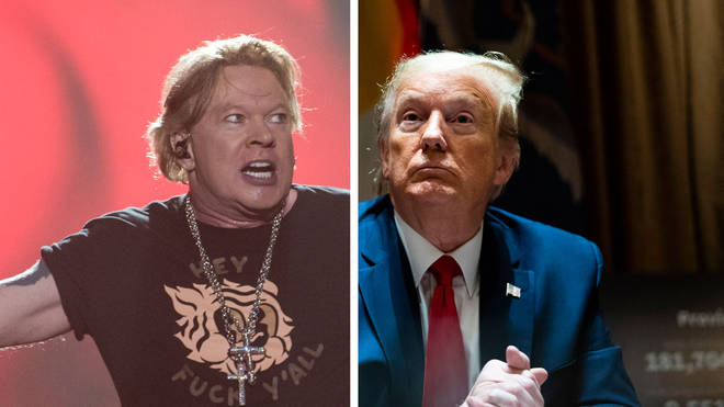 Guns N' Roses Axl Rose and US President Donald Trump