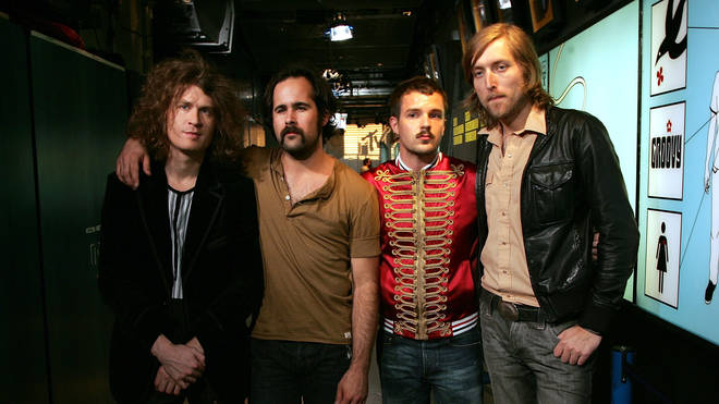 The Killers in 2006:  David Keuning, Ronnie Vannucci, Brandon Flowers and Mark Stoermer