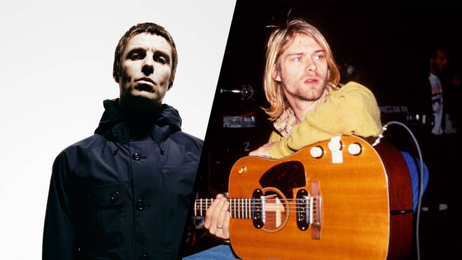 Liam Gallagher and late Nirvana frontman Kurt Cobain