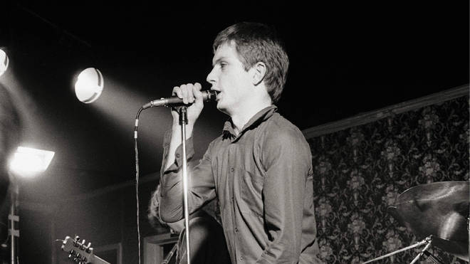 Ian Curtis performing with Joy Division in March 1979
