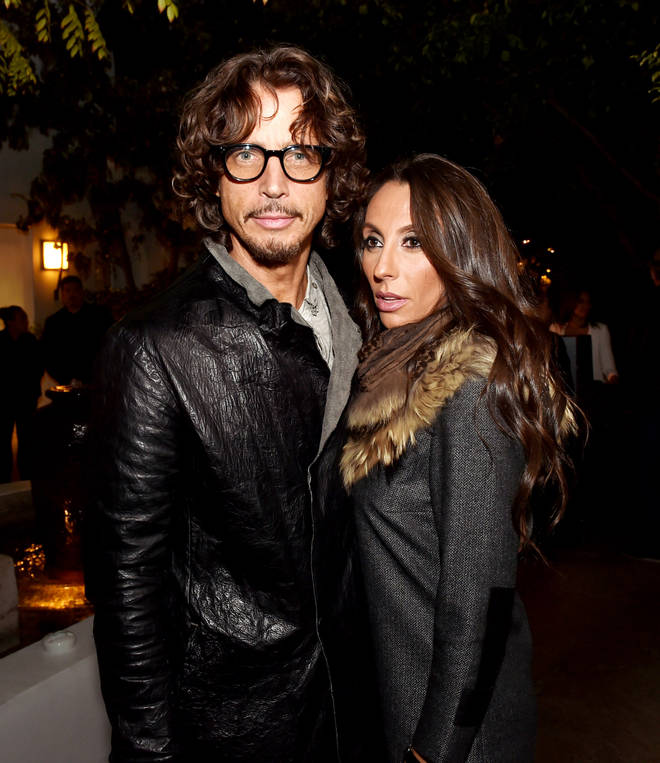 The late Chris Cornell and his wife Vicky Cornell in 2014