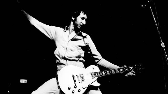 Pete Townshend performing with The Who in 1972